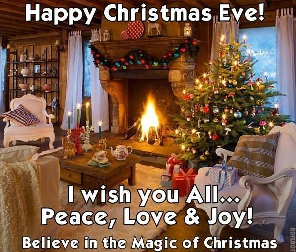 Christmas Eve wishes for all Loving all things Christmas