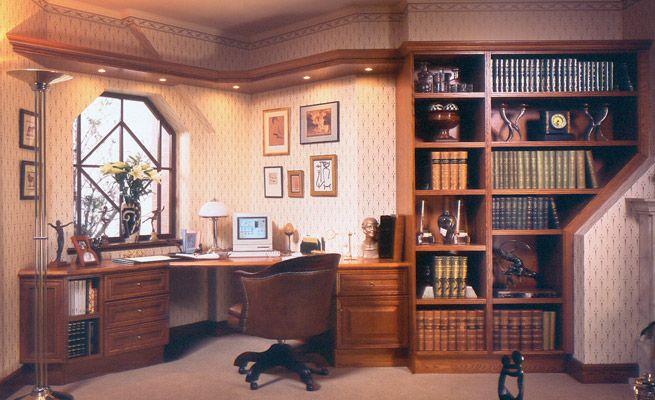 traditioneel engelse studeerkamer bureau boekenkast openluchttheater huisbibliotheken kantoor aan huis meubelen