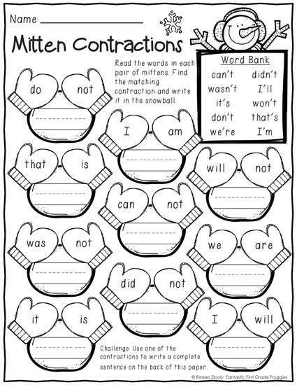 january winter print and do 1st grade no prep math and literacy practice - Fun Activities To Print