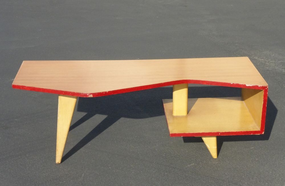 Unique DANISH Modern COFFEE TABLE Two Tier w Peg legs MID CENTURY MODERN  #DanishMidCenturyModern