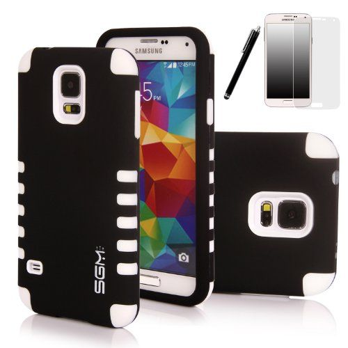 S5 Case Sgm 3 Piece High Impact Hybrid Defender Case For Samsung Galaxy S5 With Screen Protector St Samsung Galaxy S5 Galaxy S5 Case Samsung Galaxy S5 Cases