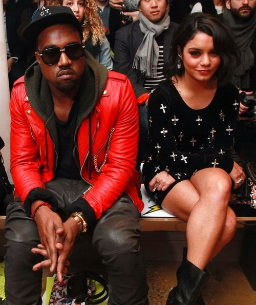 Kanye West Vannessa Hudgens Red Leather Jacket Leather Jacket Cool Outfits