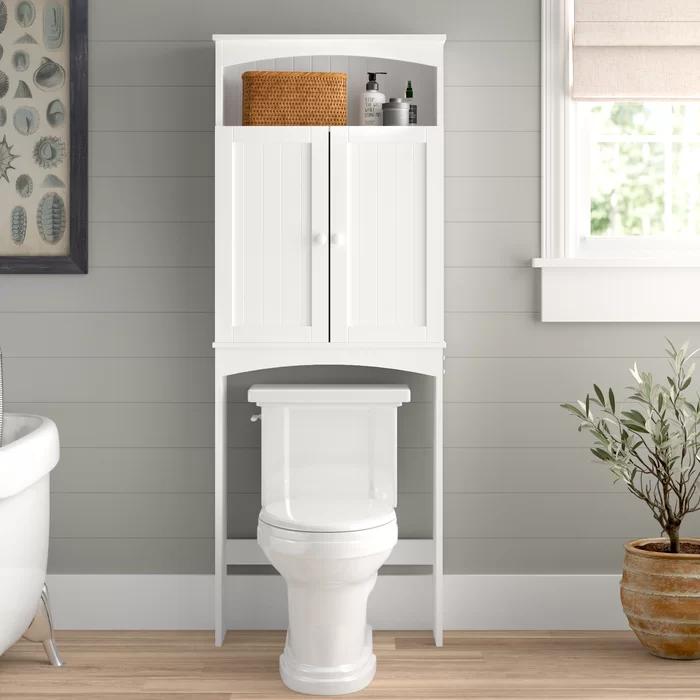 Aurora 24 63 W X 64 75 H Over The Toilet Storage In 2020 Toilet Storage Wall Mounted Bathroom Cabinets Bathroom Shelf Cabinet
