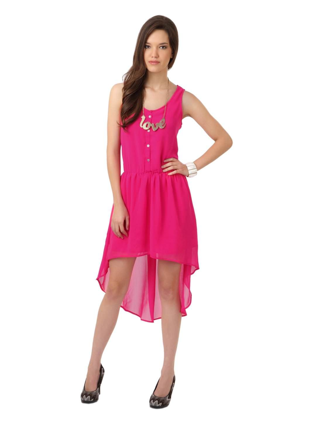 Femella Women Pink Dress | Myntra | Outfit ideas | Pinterest ...
