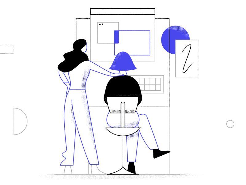 Crypto in 2020 Line illustration, Website illustration