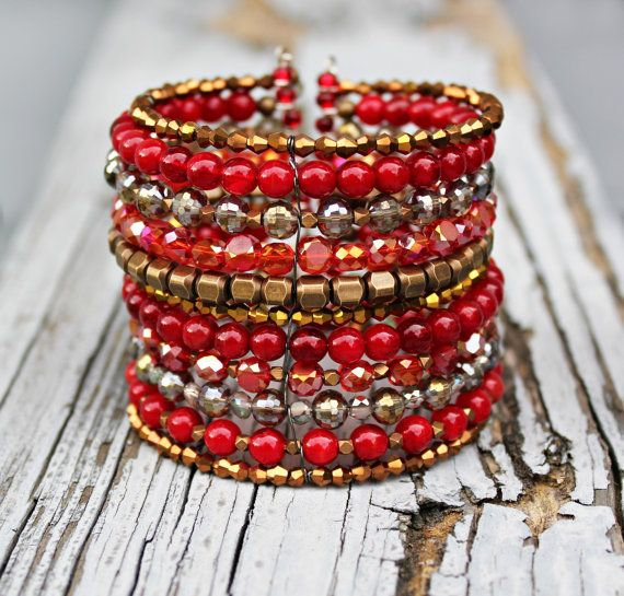 New! Stacked Cuff Bangle Bracelet by Eleven11designs, $110.00