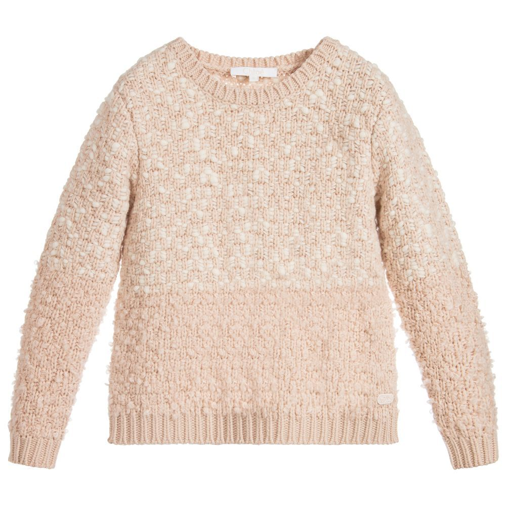0592f85c448e Girls Pink Wool Sweater