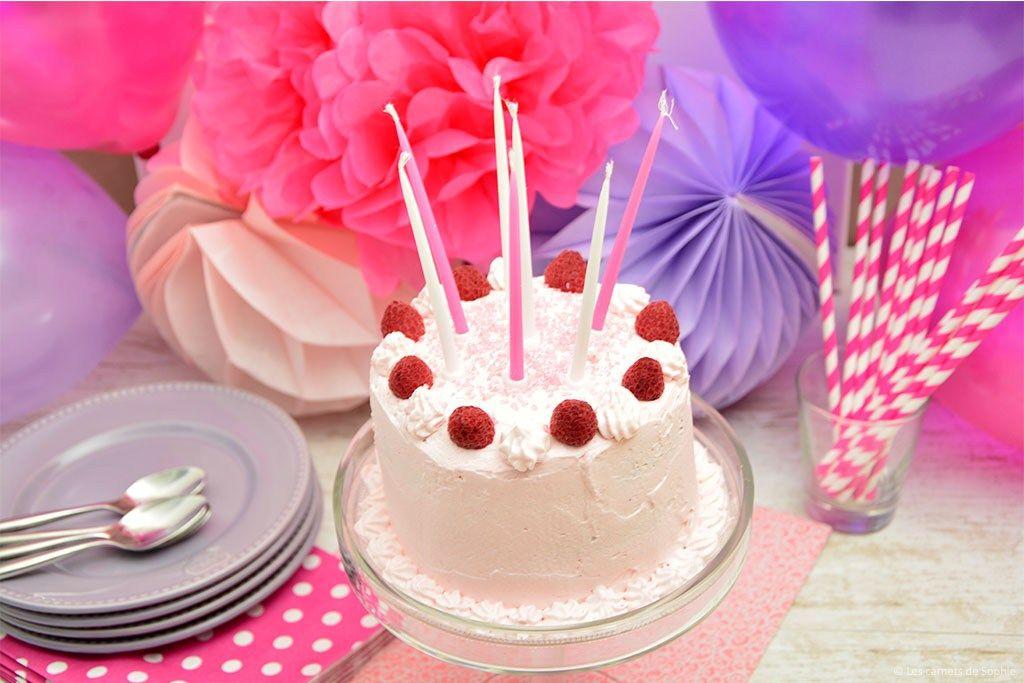 Pink ombre cake aux framboises et à la rose - {Battle Food #29} - Les carnets de Sophie