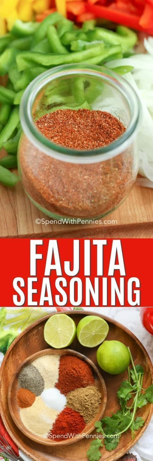 Make the best fajita seasoning mix with just a few simple ingredients! Create this homemade seasoning mix to use on steak, chicken or even seafood fajitas. #spendwithpennies #fajitaseasoning #seasoningrecipe #spices #homemade #seasoningmix #homemadefajitaseasoning Make the best fajita seasoning mix with just a few simple ingredients! Create this homemade seasoning mix to use on steak, chicken or even seafood fajitas. #spendwithpennies #fajitaseasoning #seasoningrecipe #spices #homemade #seasonin #beeffajitarecipe
