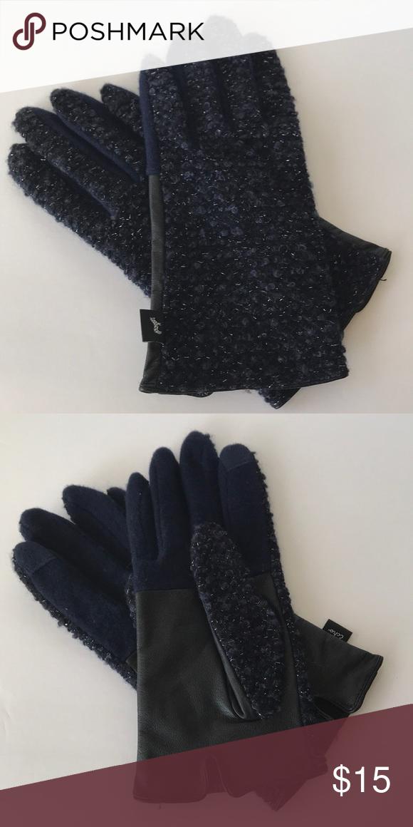Echo Driving Gloves Blue Metallic + Leather Driving Gloves Echo Design Accessories Gloves & Mittens #metallicleather