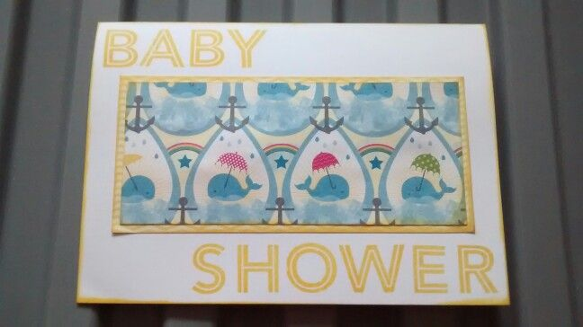Baby shower card using stampin up dsp and stamps