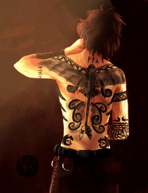 Hiccup with tattoos  :D <<<<<<<who ever did the drawing