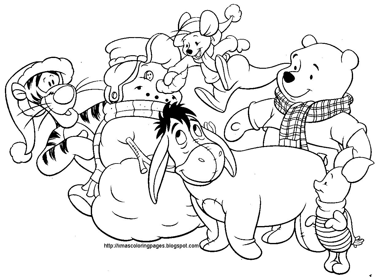 disney christmas coloring pages printable
