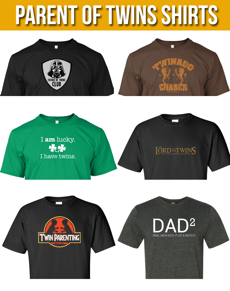 dca78a86 Great collection of t-shirts for parents of twins. | Tips for ...
