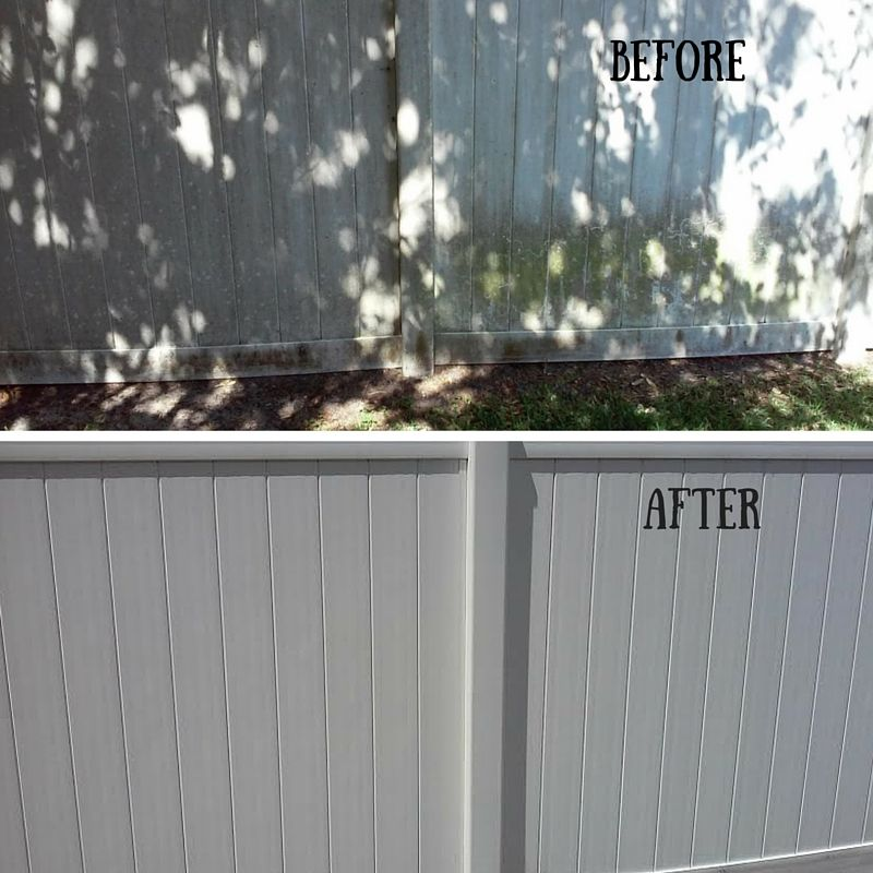 This fence was in dire need of a good cleaning. There's not even a trace of the algae that was there before!