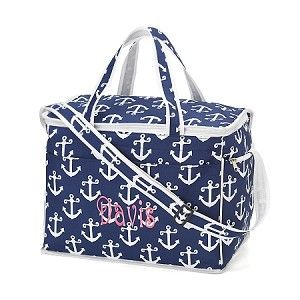 Chill out with our new Monogrammed Anchor Large  Cooler  Bag - Navy!