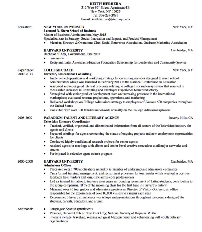 Education Resume Sample Examples Resume Cv Education Resume Education Masters In Business Administration