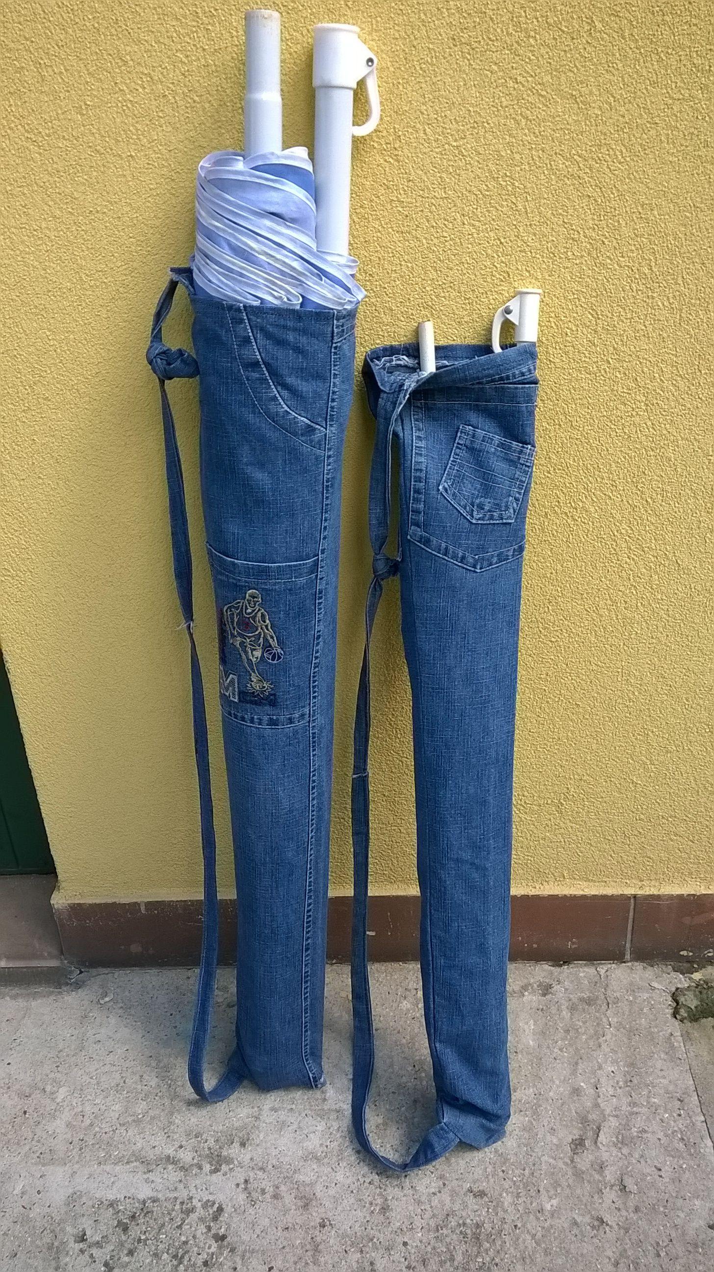 Porta ombrellone da spiaggia con tracolla couture pour for Porta cellulare fai da te jeans