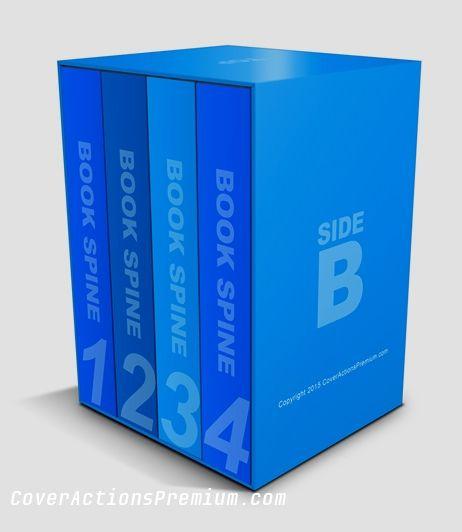Download 5 5 X 8 5 Thick Book Box Set Mockup Cover Actions Premium Mockup Psd Template Book Box Boxset Mockup