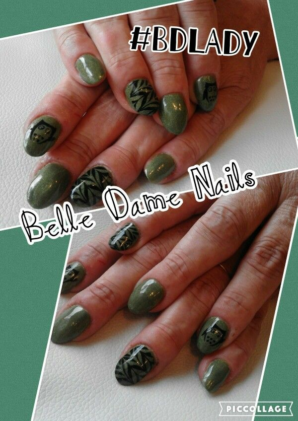 Coloured acrylics with owl nail art for Autumn. By Tan Adams at ...