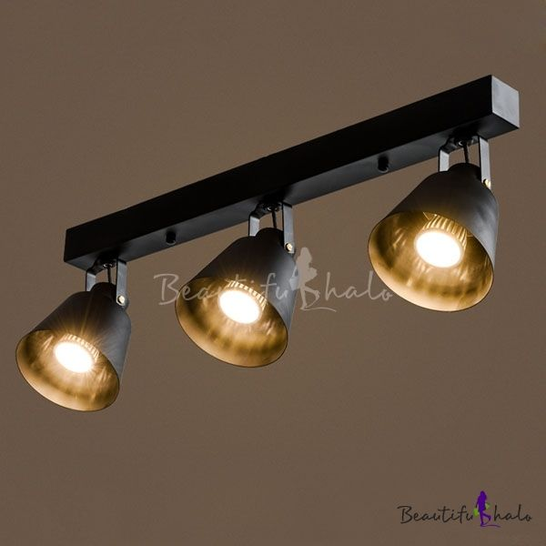 24 Inches Wide 3 Light Industrial Style Led Spotlight Ceiling Light Ceiling Lights Industrial Style Lighting Led Ceiling Lights