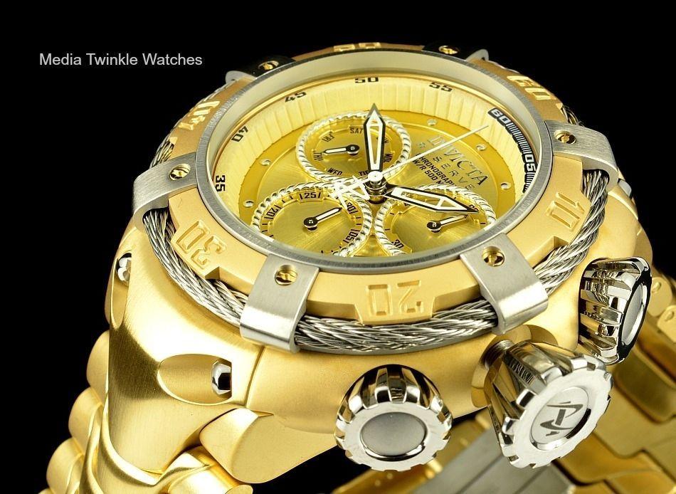 Jason Taylor Invicta Bolt Zeus Watch | Invicta Reserve THUNDERBOLT Swiss Made Gold Dial & Silver Bezel ...
