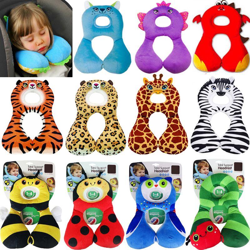 cute cartoon baby pillow kids nursing neck pillow safe travel pillow infant safety seat pillow for