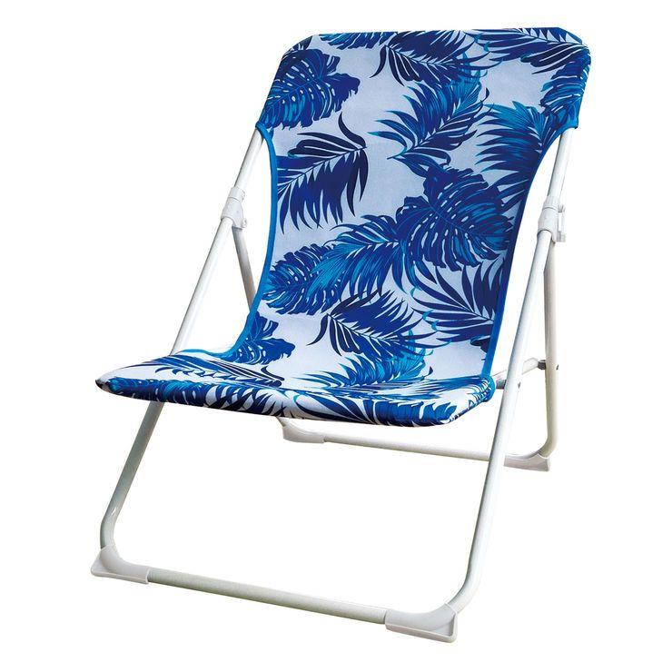 Tropical Armless Low Beach Chair