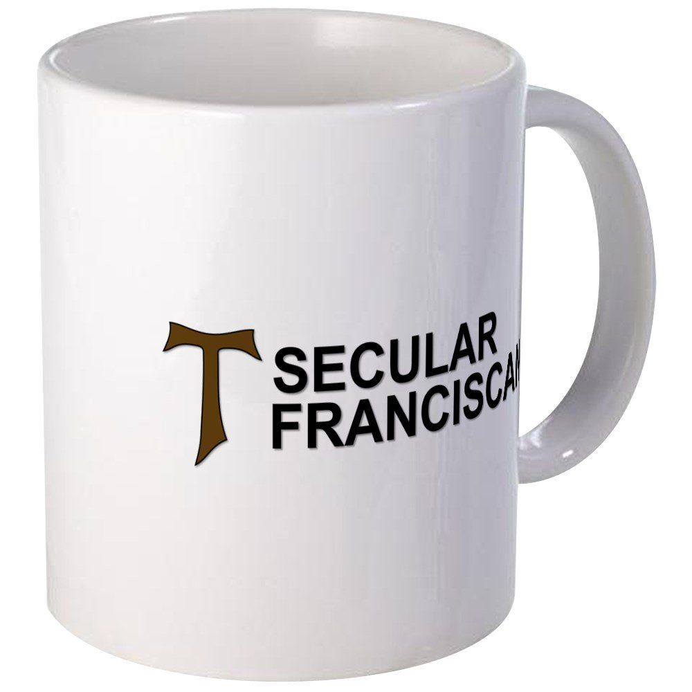 Cafepress secular franciscan mugs unique coffee mug coffee