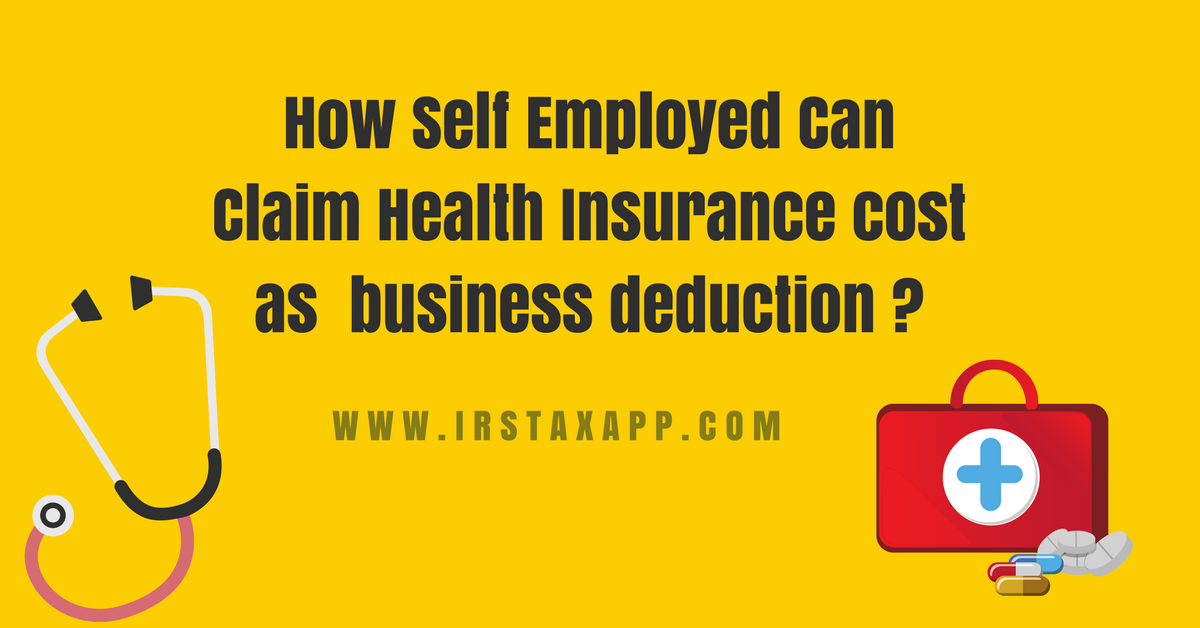 Self Employed Health Insurance Deduction Simplified