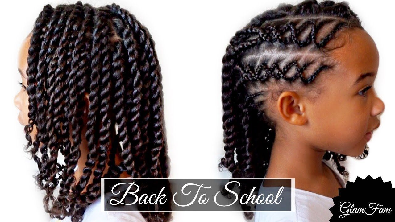 Braided childrenus hairstyle back to school hairstyles youtube