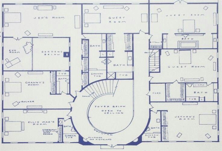 Clampett Mansion Floor Plans How To Plan Flooring