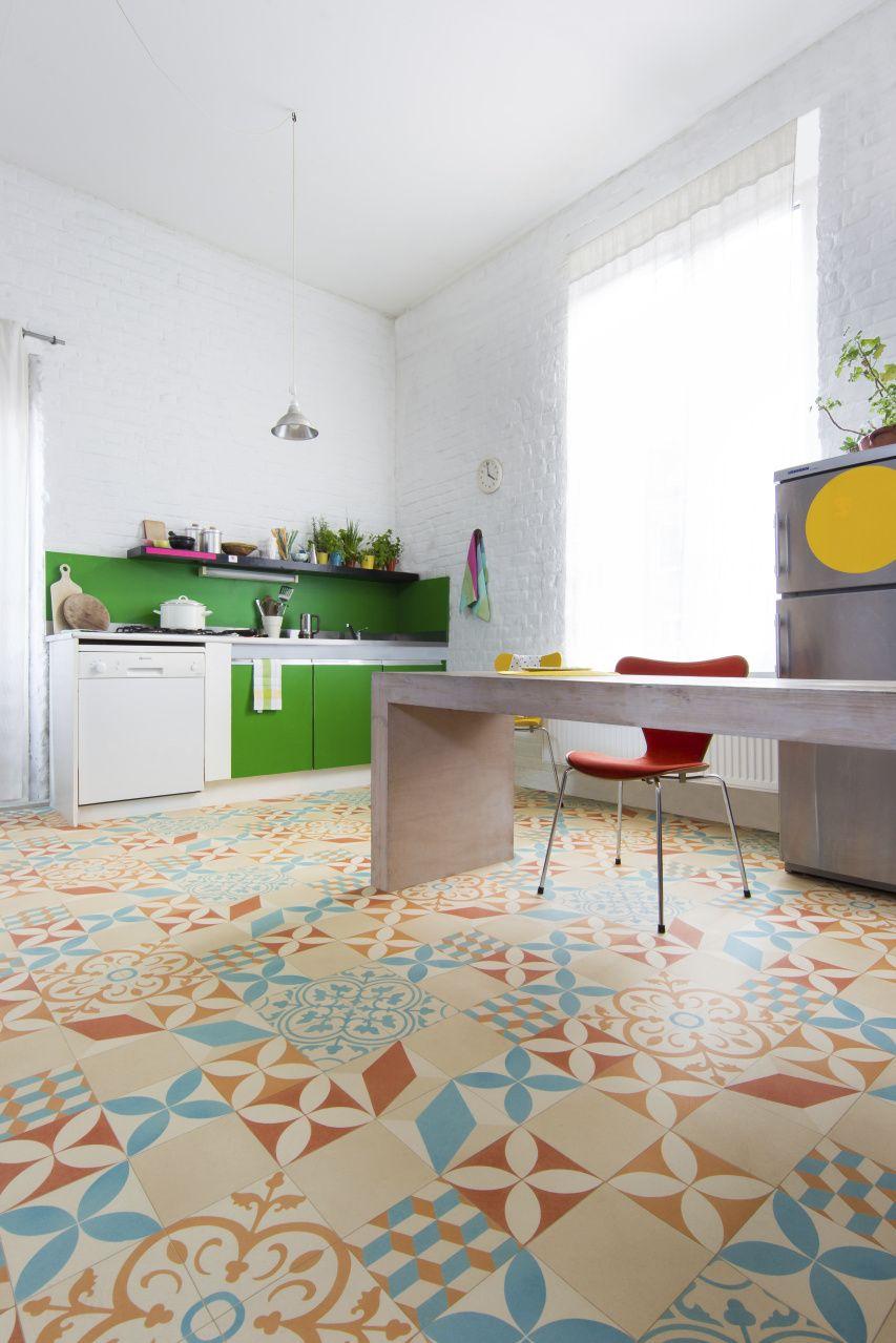 Beautiful retro tiles in vinyl flooring   IVC GROUP   Bodenfliesen ...