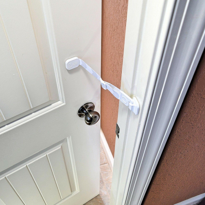 Door buddy door latch to dog proof litter box