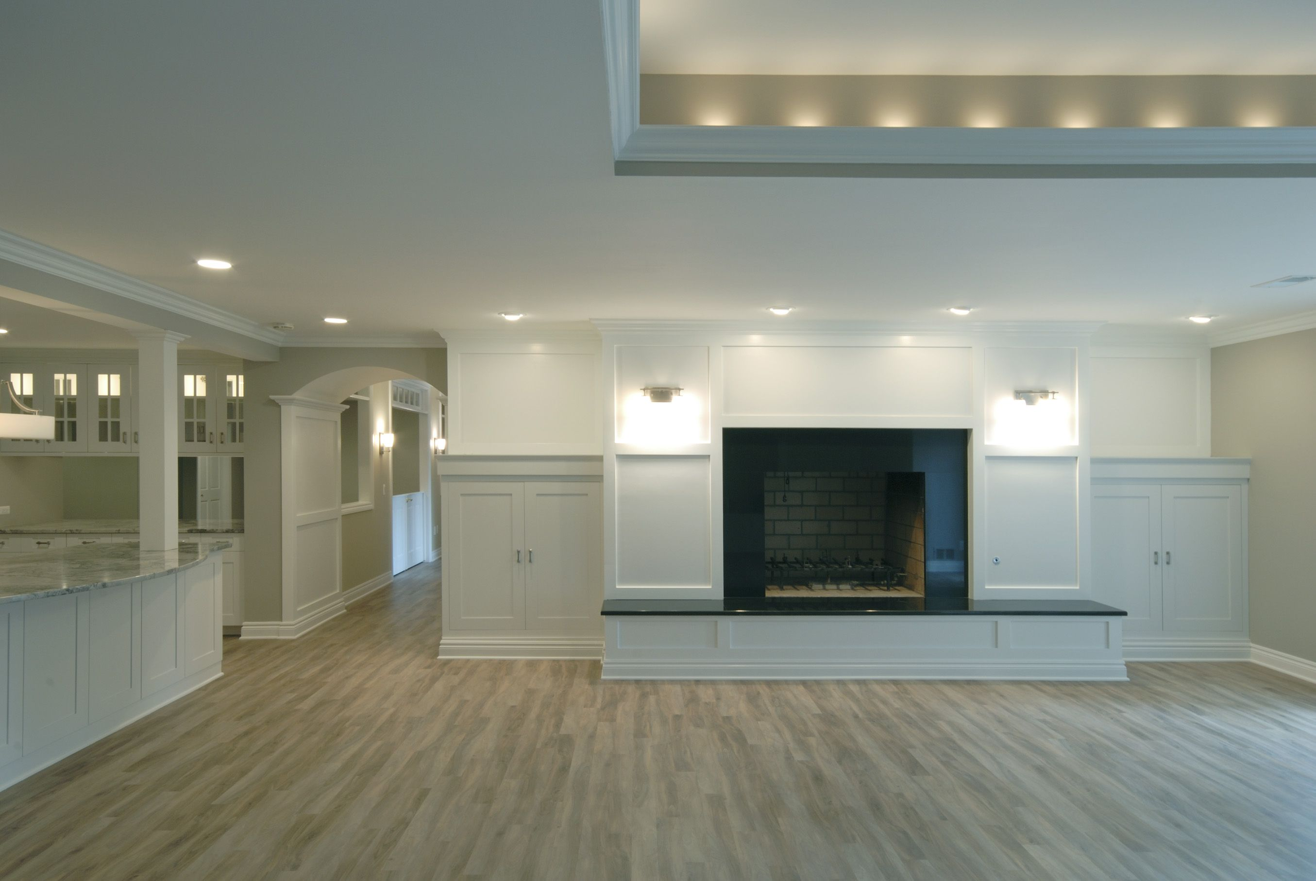 lighting for basements. Beautiful And Bright Basement. Lots Of Recessed Lighting, Middle Part Main Room Ceiling Is Higher. Lighting For Basements