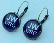 101514aa2 JW.ORG Lever-Back Earrings in Silver tone or Antique Brass ...