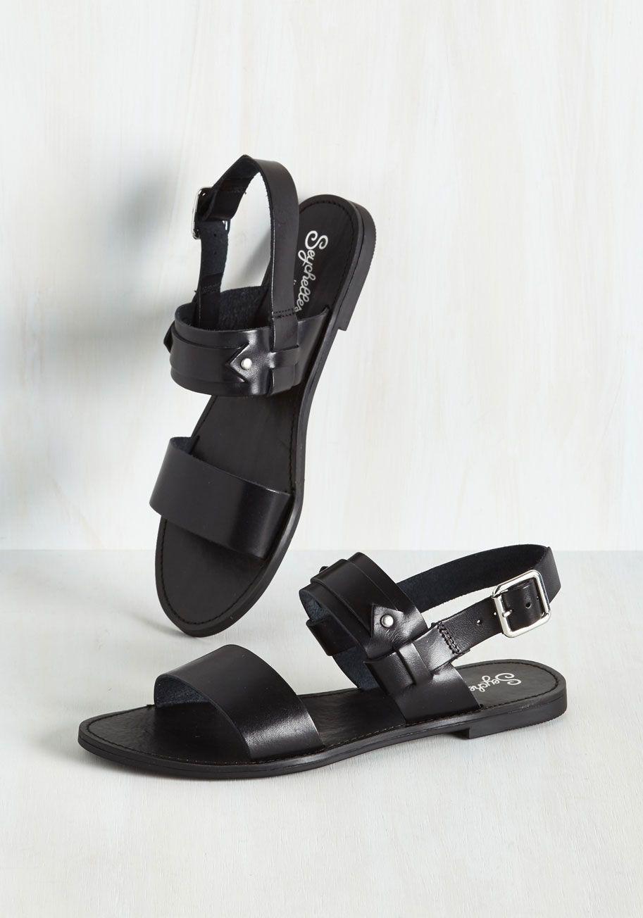 Seychelles Revolutionary Sandal In Onyx Mod Retro Vintage Sandals Modcloth Com Vintage Sandals Leather Buckle Sandals Leather Strap Sandals