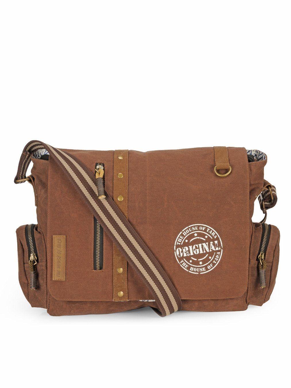 The House Of Tara Vintage Canvas Crossbody Travel Office Business Messenger  Bag (Rustic Brown) HTMB 053 8e047e19a6115