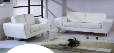 Julie White Julie Contemporary Sofa U0026 Loveseat Set : Beverly Hills Furniture  : Leather Sofas At