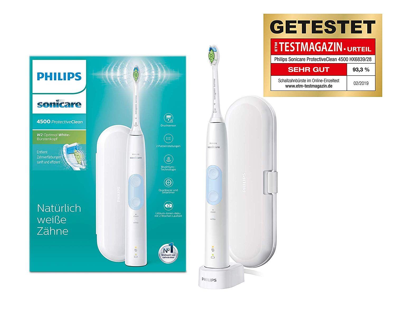 Philips Sonicare Protectiveclean 4500 Elektrische Zahnburste Hx6839 28 Schallzahnburste Mit 2 Putzprogrammen Andruck In 2020 Elektrische Zahnburste Zahnburste Zahne