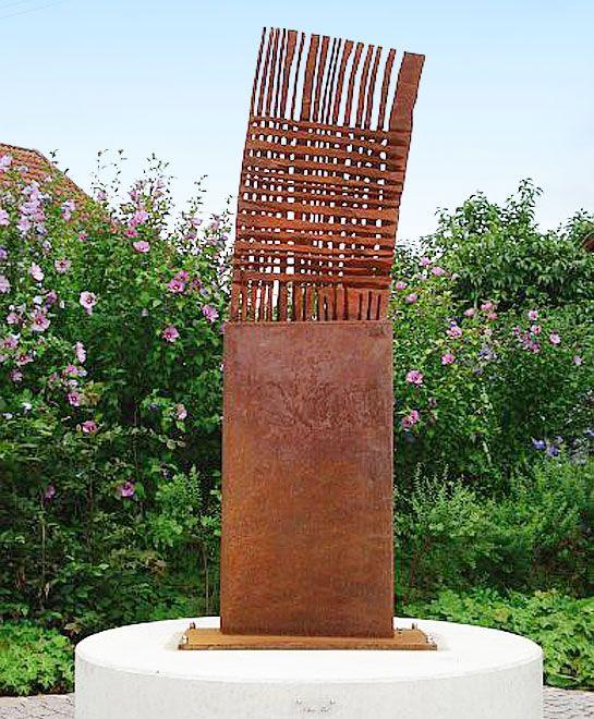 Armin g hringer garten edelrost skulpturen abstrakt for Steinskulptur garten