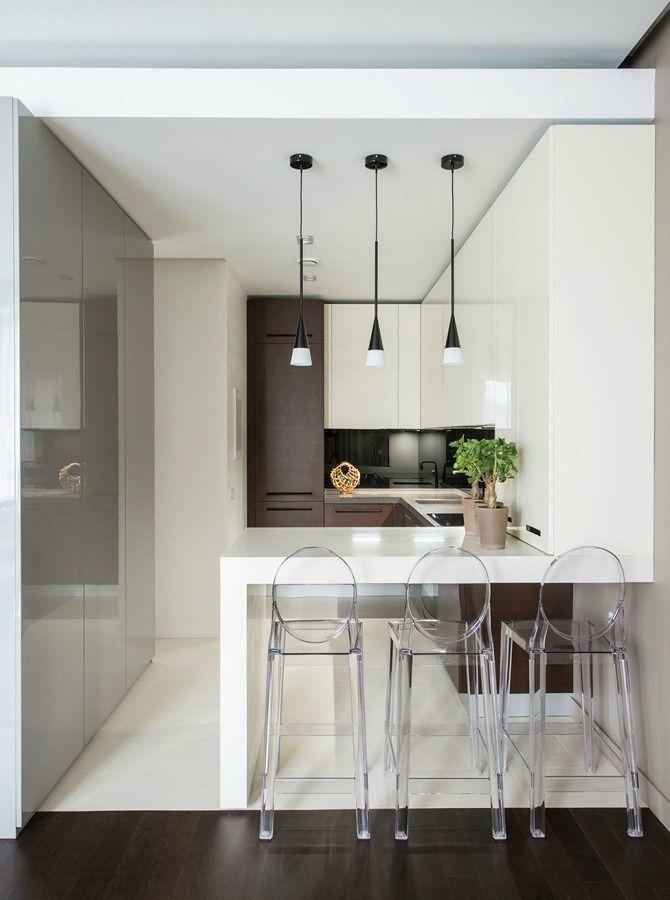 cucina con angolo snack | kitchen house | Cucine piccole, Cucine ...