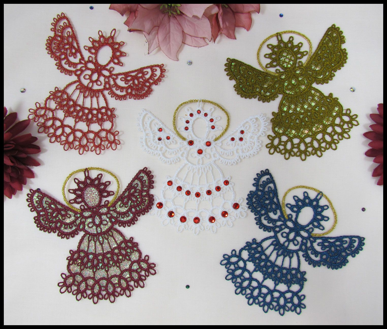 Completely free-standing tatting designs done in the machine embroidery hoop! I so wish this was real tatting.
