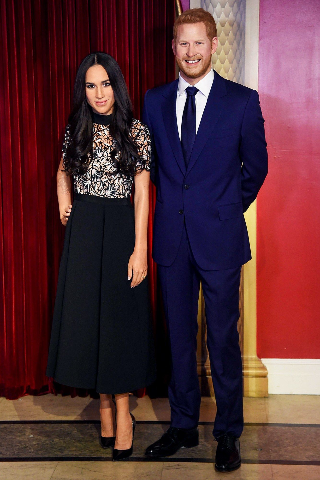 Royal blue lace wedding dress october 2018 Walking Through the Uncanny Valley of Madame Tussaudsus Meghan