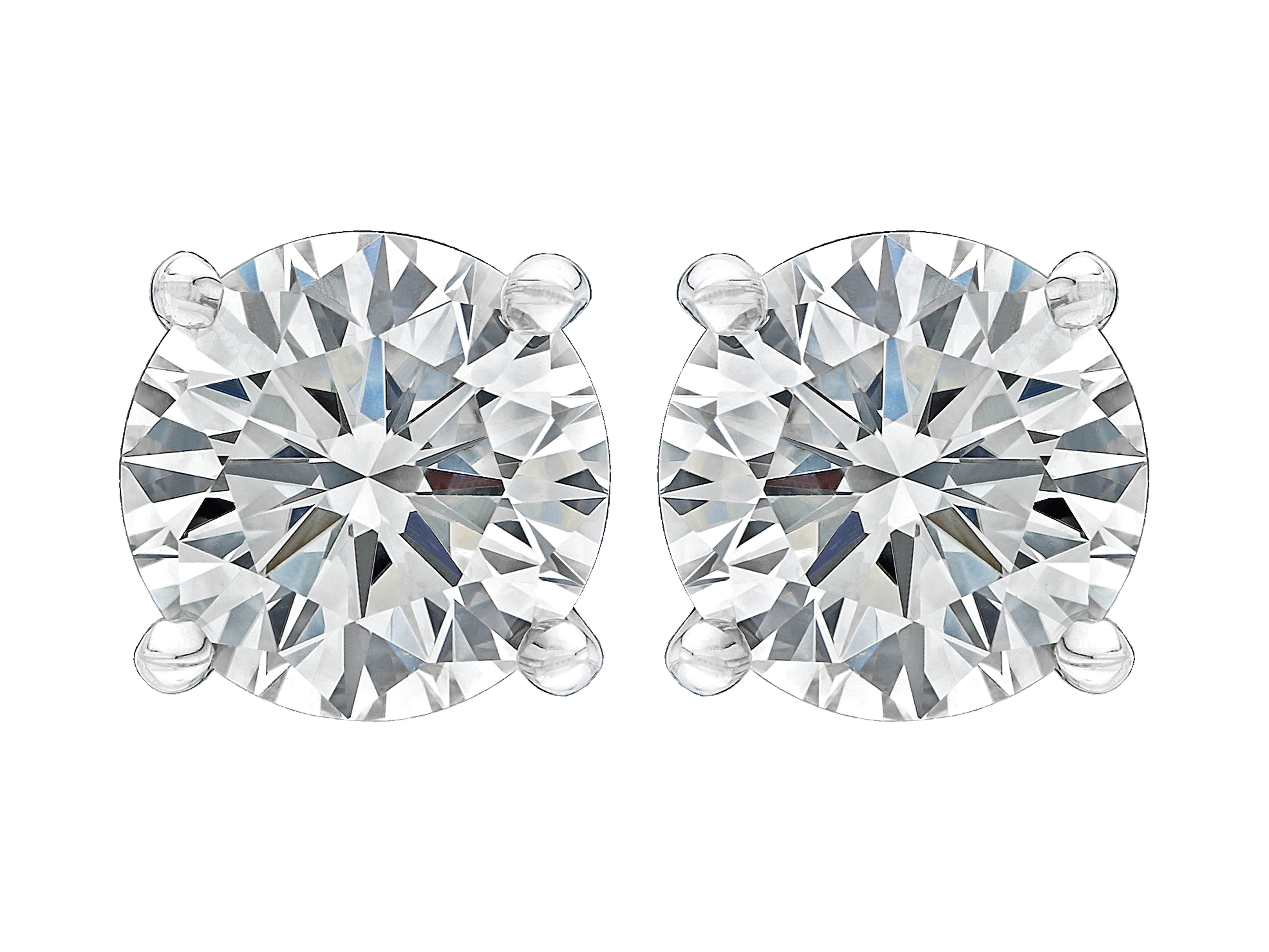 Gordon James Diamond Solitaire Earrings featuring Round Brilliant