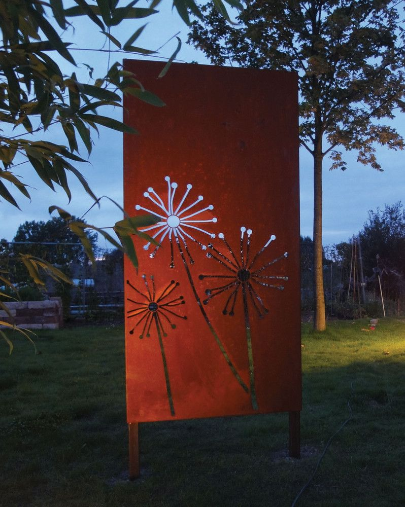 paras sichtschutzwände aus corten | garden how to-art/sculpture