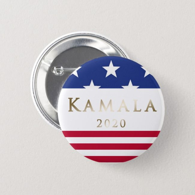 Kamala 2020 American Flag Gold Button | Zazzle.com #americanflagart