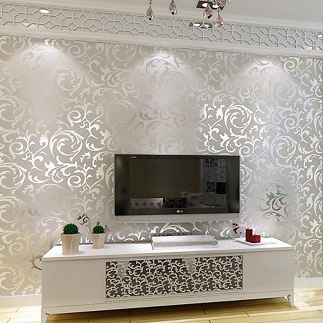 Elecmall 3d Rolls 10m Print Embossed Non Woven Wallpaper Bedroom Home Wall Decor Wall Elec Walmart Com In 2021 Design Living Room Wallpaper Modern Wallpaper Designs Wallpaper Designs For Walls
