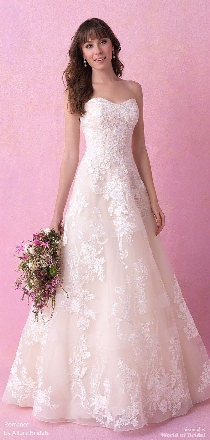 Romance by allure bridals fall wedding dresses white gown