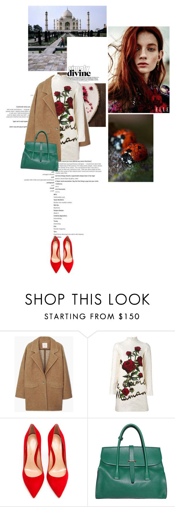 """""""Immarcescible"""" by farahhind ❤ liked on Polyvore featuring MANGO, Dolce&Gabbana, Gianvito Rossi and Sonia Rykiel"""
